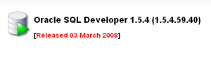 SQL Developer 1.5.4