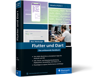 Flutter und Dart - Das umfassende Handbuch - Buchcover